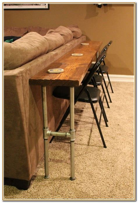 behind couch bar table bar table behind couch google search rustic glam