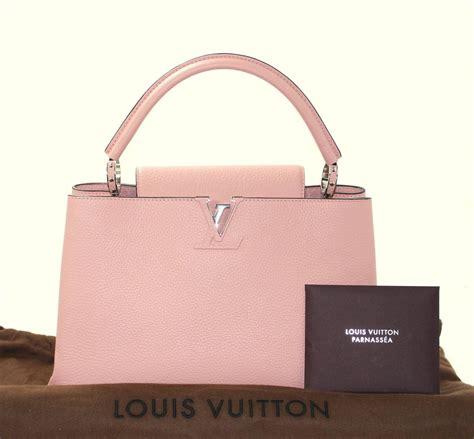 Tas Louis Vuitton Cappucine Bag Medium louis vuitton magnolia leather capucines mm bag pink color at 1stdibs