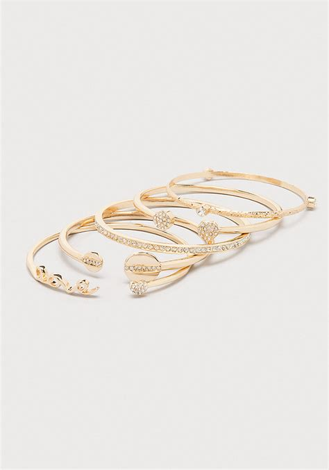 Love Rhinestone Bracelet Set   Jewelry   Bracelets   bebe