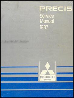 service manual repair manual 1994 mitsubishi precis service manual auto repair manual online 1987 mitsubishi precis repair shop manual original