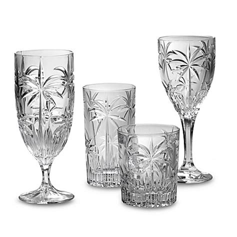 godinger barware godinger dublin crystal shannon south beach palm stemware