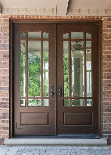 Glass Panel Exterior Door Furniture Alluring Wooden Front Doors With Glass For Luxurious Exterior Nu Decoration