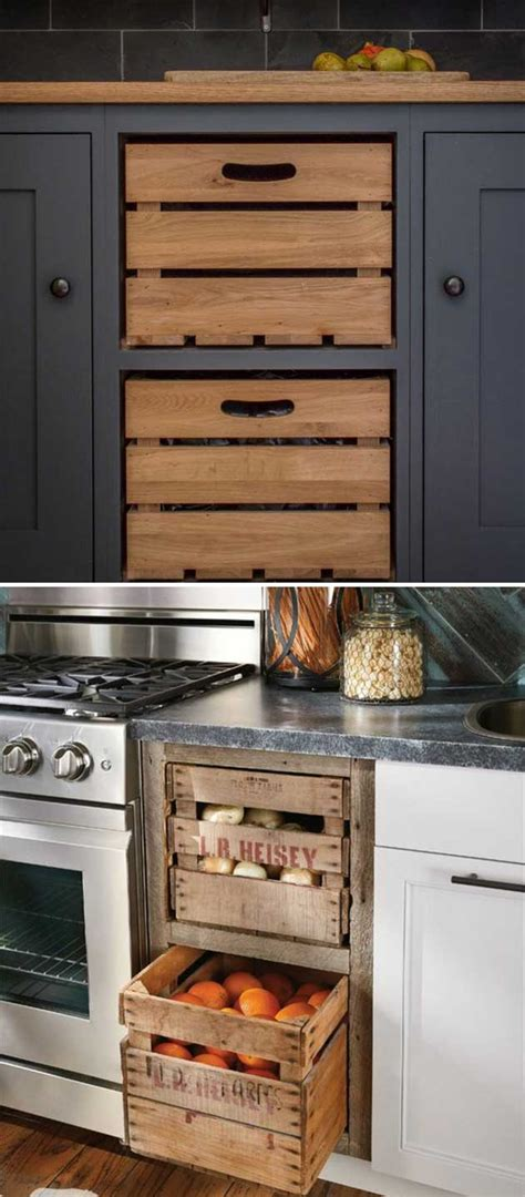 15 wooden crates in kitchen 15 insanely cool ideas for storing fresh produce