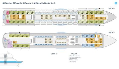 aida kabinen ansicht deckspl 228 ne decksgrundrisse aidasol ansehen aida