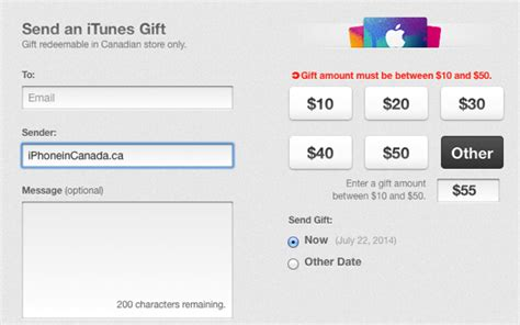 Itunes Gift Card Custom Amount - apple lowers max itunes gift amounts in canada from 100 to 50 iphone in canada