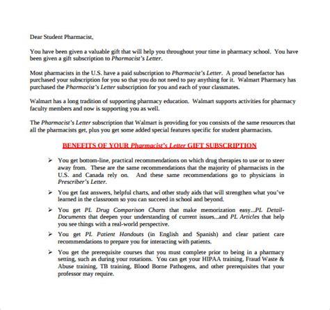 pharmacist letter 16 free sles exles format