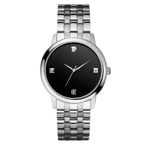 Black Gray Bouverie 40 Mm Watches lyst guess mens accent stainless steel