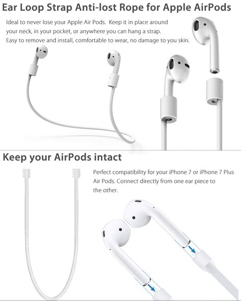 Anti Lost For Apple Airpods 2 anti lost ear loop string rope cord wire rope for apple airpods iphone x ebay