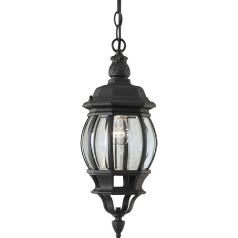 Outdoor Pendant Lighting Home Depot Filament Design Burton 1 Light Black Outdoor Incandescent Ceiling Light The Home Depot Canada