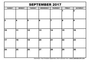 Calendar Printable September 2017 September 2017 Calendar October 2017 Calendar