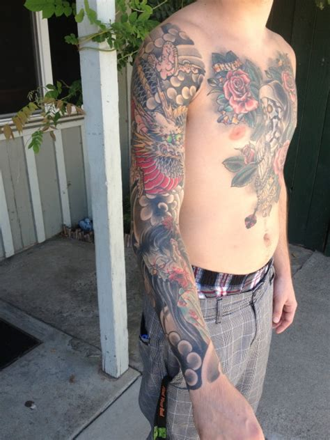 japanese dragon and ghost tattoo