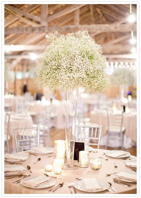 wedding tables centerpieces gypsophila weddings