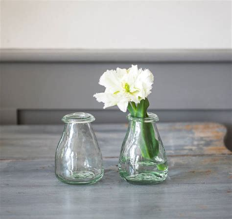 Recycled Glass Vases by Pair Of Recycled Glass Bud Vases By All Things Brighton Beautiful Notonthehighstreet