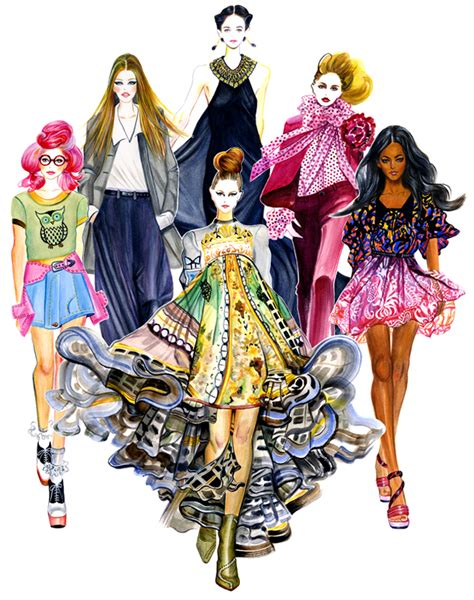 fashion illustration styles in style series gu