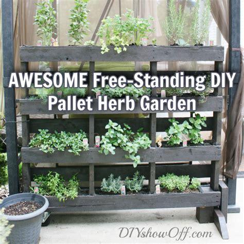 awesome  standing diy pallet herb garden  prepper