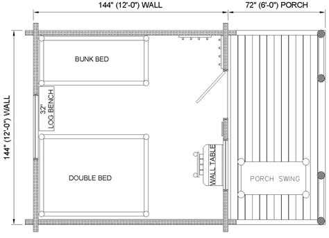 One Room Cottage Floor Plans | one room cabin with loft one room log cabin floor plans