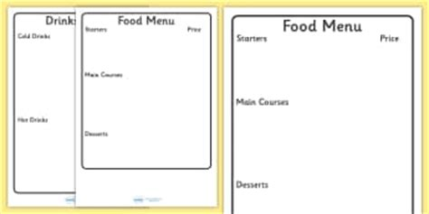 menu writing template writing templates menu primary resources page page 1