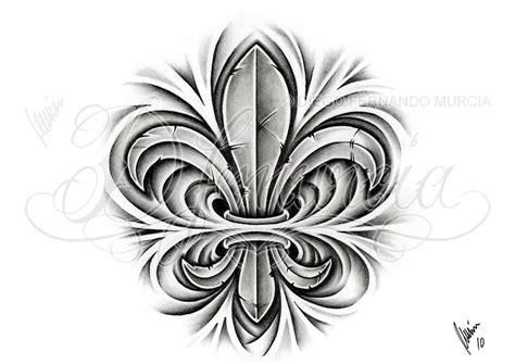 fleur de lis tattoo design custom fleur de lis by dfmurcia on deviantart