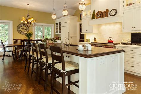 kitchen island countertops ideas kitchen island bar ideas with grothouse wood surfaces blog