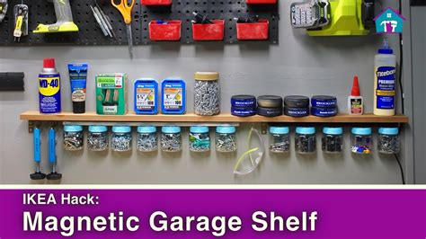ikea garage storage hacks ikea hack magnetic garage organization youtube