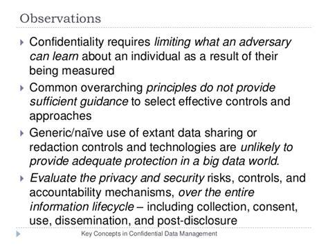 Principles Novak Collection by Confidential Data Management Key Concepts