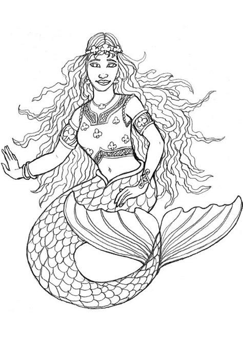 coloring pages for adults mermaid free printable mermaid coloring pages for