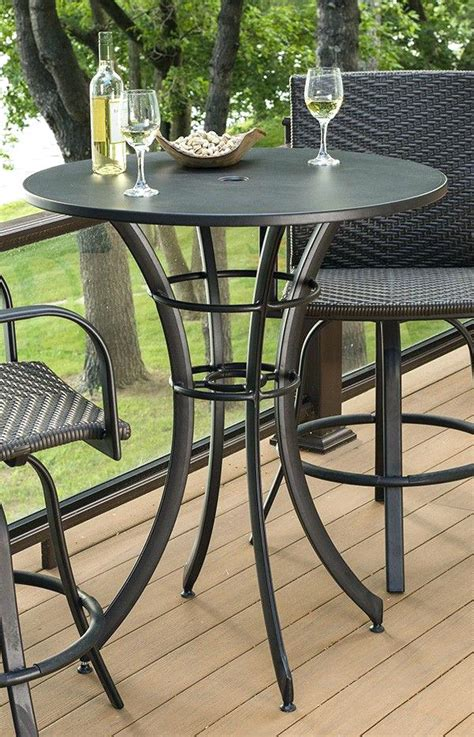 outdoor high top bistro table and chairs high top patio bar set patio outdoor high top table and