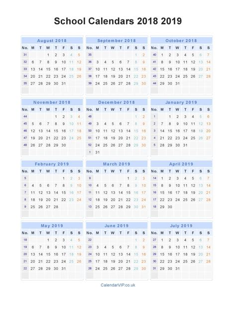 2018 16 academic calendar template academic calendar template 2018 19 calendar image 2019