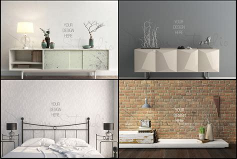 Cool Home Interior Designs 15 wall art mockup psd designs for designers graphic cloud