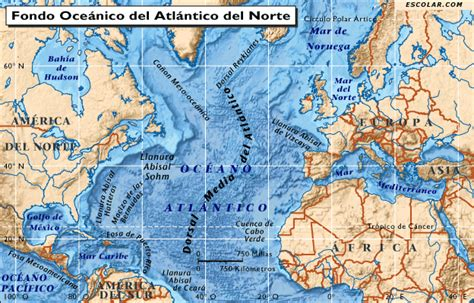 imagenes satelitales oceano atlantico mapas de escolar com mapa de oc 233 ano atl 225 ntico del norte