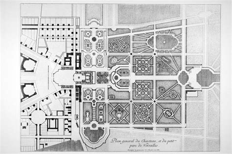 floor plan versailles historique des jardins 224 la fran 231 aise les 12 jardins