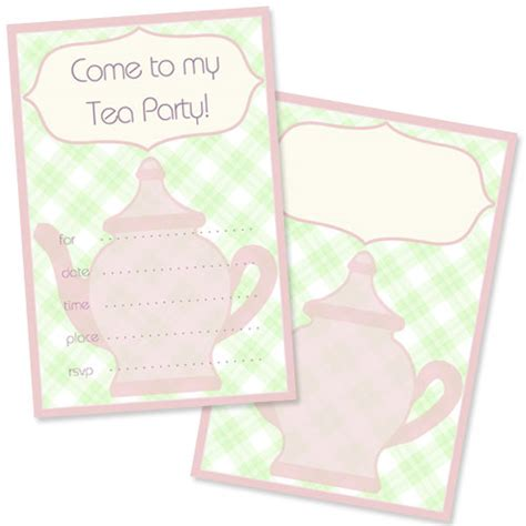 free tea party invitation template printable treats com