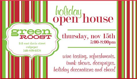printable christmas open house invitations quotes about open house quotesgram