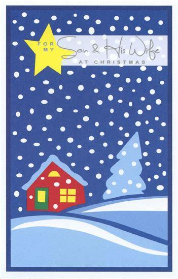 yellow star snowfall son christmas card  freedom