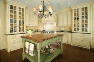 Country Kitchen Chandelier Lighting French Country Style Kitchen With Cream Cabinets And A