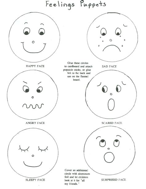 worksheets for preschoolers on emotions happy face feelings story emotions feelings preschool