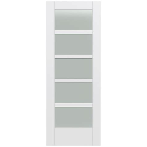 home depot glass interior doors jeld wen 32 in x 80 in moda primed pmt1055 solid wood interior door slab w translucent