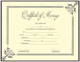 Free Certificate Templates Uk by Ms Office Marriage Certificate Template Microsoft Office
