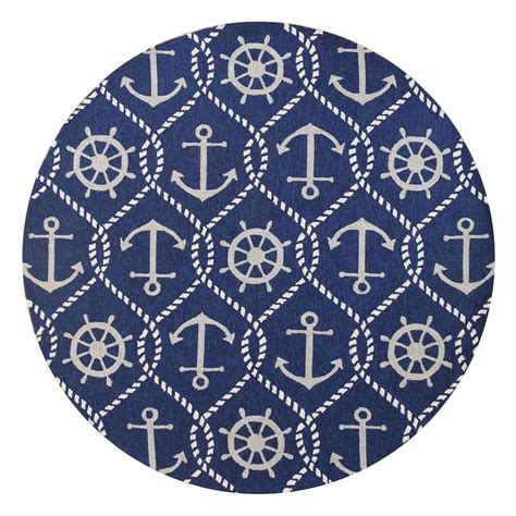 anchor area rug kas rugs anchor s away blue 7 ft 6 in x 7 ft 6 in area rug har422076x76ro the home depot