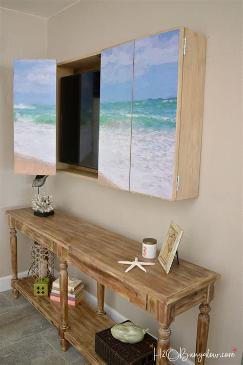 wall mounted tv cabinet diy wall mounted tv cabinet with free plans h20bungalow
