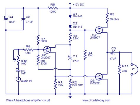 transistor guitar lifier schematic few transistor lifier circuits circuit diagram world