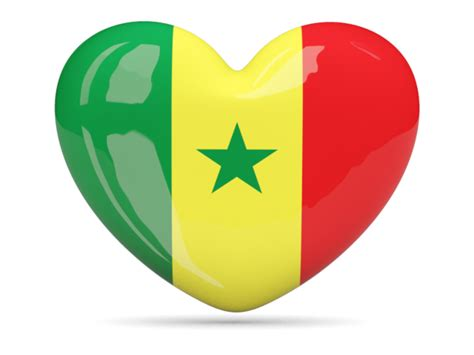 Heart icon. Illustration of flag of Senegal