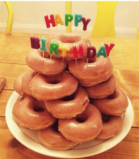 Happy Birthday Doughnuts by Donut Cake I Seriously Would Take This Any Other