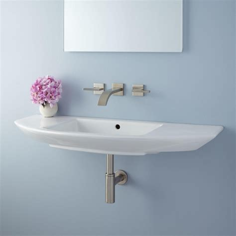 wall mount sinks for small bathrooms narrow small wall mount bathroom sink installation