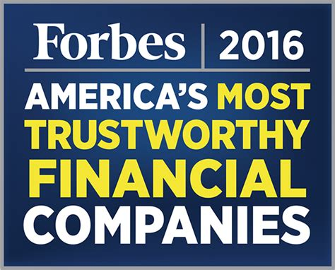 Top Mba Colleges In World Forbes by America S 50 Most Trustworthy Financial Companies
