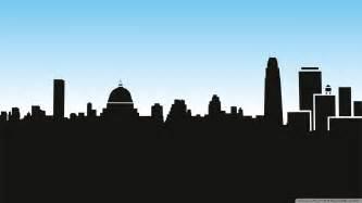 Skyline Silhouette City Skyline Silhouette Wallpaper