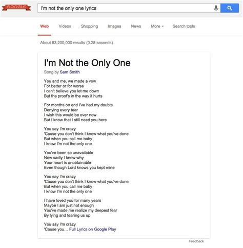 Song Lookup Adds Song Lyrics To Search Results