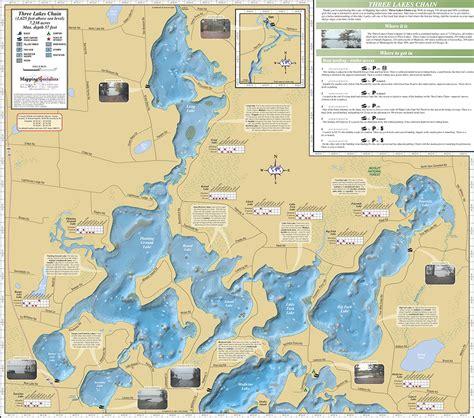 three lakes chain fold map