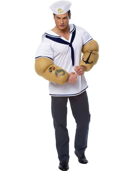 costume with arms popeye sailor shirt with arms mens costume themes