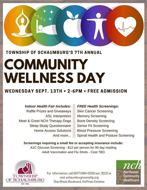 Township Of Schaumburg Community Wellness Fair Community Health Fair Flyer Template